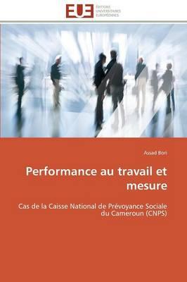 Performance Au Travail Et Mesure - Omn.Univ.Europ. (Paperback)