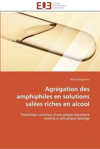 Agr�gation Des Amphiphiles En Solutions Sal�es Riches En Alcool - Omn.Univ.Europ. (Paperback)