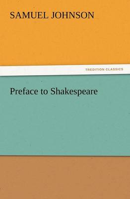 Preface to Shakespeare (Paperback)