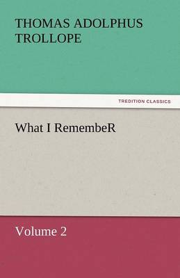 What I Remember (Paperback)