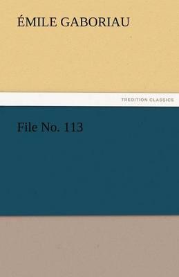 File No. 113 (Paperback)