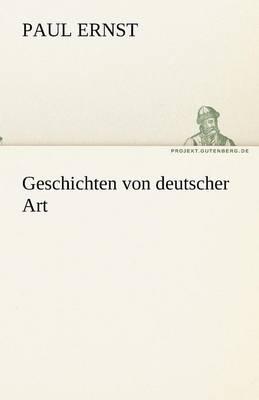 Geschichten Von Deutscher Art (Paperback)