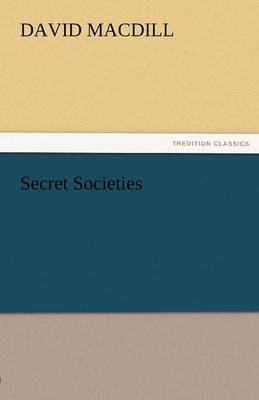 Secret Societies (Paperback)