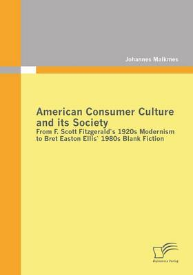 American Consumer Culture and Its Society: From F. Scott Fitzgerald's 1920s Modernism to Bret Easton Ellis'1980s Blank Fiction (Paperback)