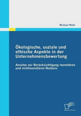 Okologische, Soziale Und Ethische Aspekte in Der Unternehmensbewertung (Paperback)