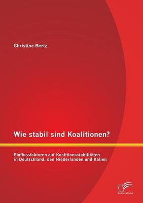 Wie Stabil Sind Koalitionen? Einflussfaktoren Auf Koalitionsstabilitaten in Deutschland, Den Niederlanden Und Italien (Paperback)