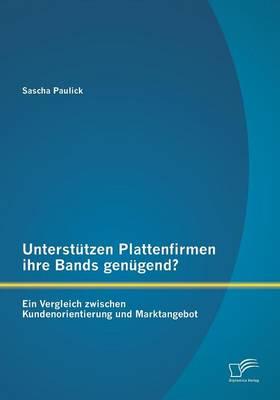 Unterstutzen Plattenfirmen Ihre Bands Genugend? Ein Vergleich Zwischen Kundenorientierung Und Marktangebot (Paperback)