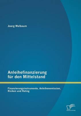Anleihefinanzierung Fur Den Mittelstand: Finanzierungsinstrumente, Anleihenemission, Risiken Und Rating (Paperback)