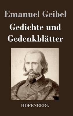 Gedichte Und Gedenkbl Tter By Emanuel Geibel Waterstones
