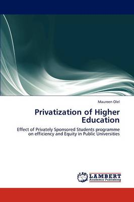 Privatization of Higher Education (Paperback)
