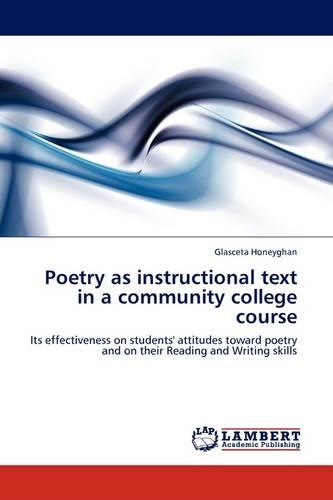 Poetry as Instructional Text in a Community College Course (Paperback)