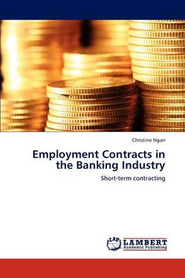 Employment Contracts in the Banking Industry (Paperback)