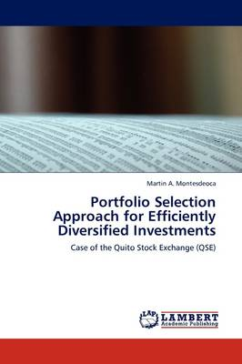Portfolio Selection Approach for Efficiently Diversified Investments (Paperback)