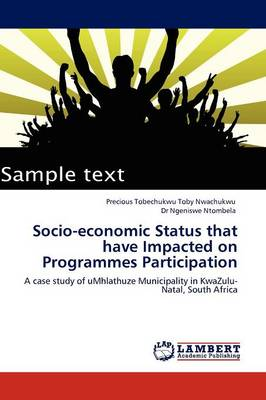 Socio-Economic Status That Have Impacted on Programmes Participation (Paperback)