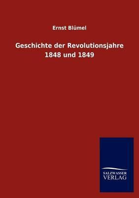 Geschichte Der Revolutionsjahre 1848 Und 1849 (Paperback)