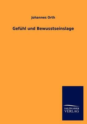 Gef Hl Und Bewusstseinslage (Paperback)