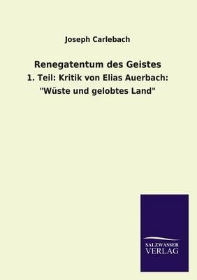 Renegatentum Des Geistes (Paperback)