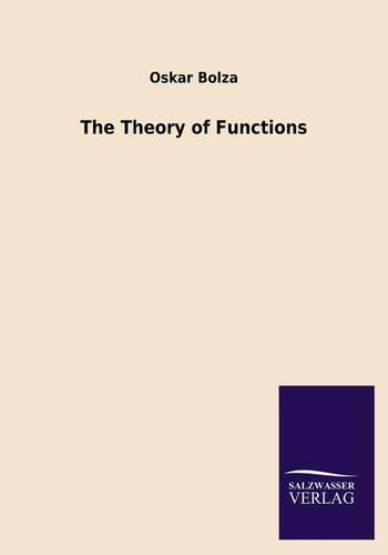 The Theory of Functions (Paperback)