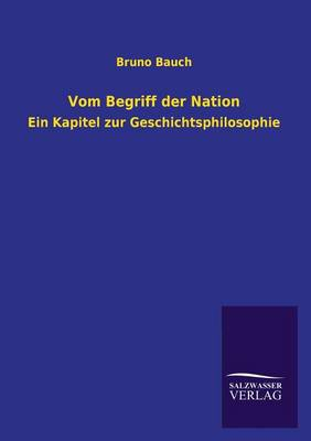Vom Begriff Der Nation (Paperback)