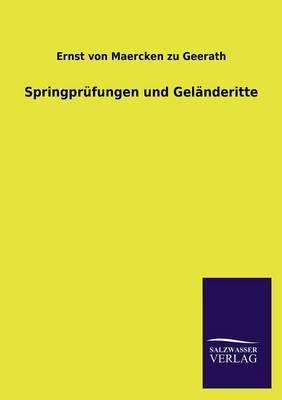 Springprufungen Und Gelanderitte (Paperback)
