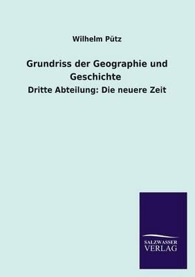 Grundriss Der Geographie Und Geschichte (Paperback)