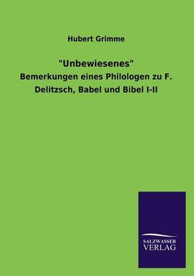 Unbewiesenes (Paperback)