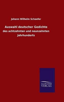 Auswahl Deutscher Gedichte (Hardback)