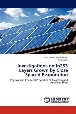 Investigations on In2s3 Layers Grown by Close Spaced Evaporation (Paperback)
