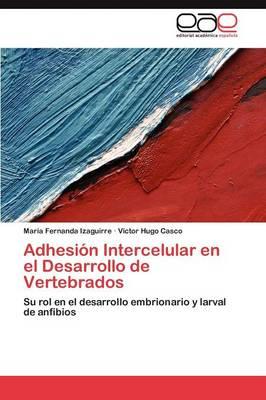 Adhesion Intercelular En El Desarrollo de Vertebrados (Paperback)