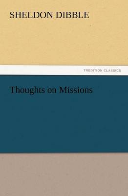 Thoughts on Missions (Paperback)