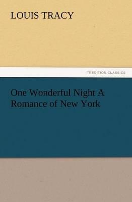One Wonderful Night a Romance of New York (Paperback)