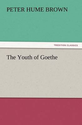 The Youth of Goethe (Paperback)