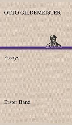 Essays - Erster Band (Hardback)