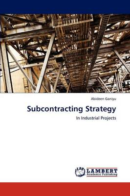 Subcontracting Strategy (Paperback)