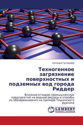 Tekhnogennoe Zagryaznenie Poverkhnostnykh I Podzemnykh Vod Goroda Ridder (Paperback)