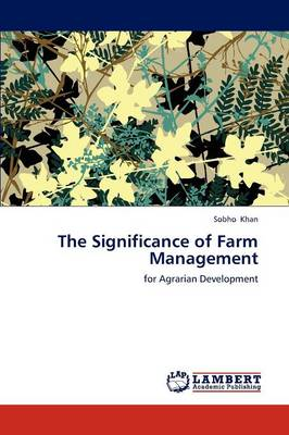 The Significance of Farm Management (Paperback)