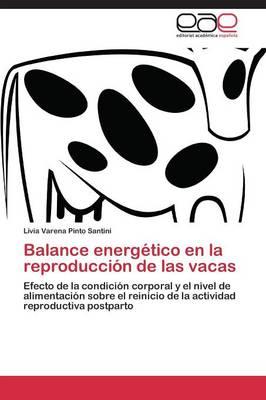 Balance Energetico En La Reproduccion de Las Vacas (Paperback)