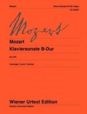 Sonata B Flat Major K570: For Piano (Sheet music)