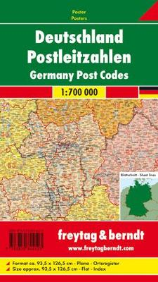 Post Codes Map Flat in a Tube 1:700 000 (Sheet map, folded)