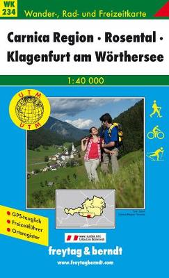 Carnica Region Rosental Klagenfurt GPS: FBW.WK234 - Hiking Maps of the Austrian Alps (Sheet map, folded)