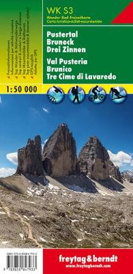Hiking Maps of the South Tyrol: Pustertal (Pusteria), Bruneck (Brunico), Drei Zinnen - Walking Maps (Sheet map, folded)