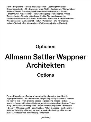 Allmann Sattler Wappner Architekten - Options (Paperback)