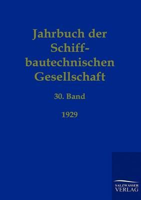 Jahrbuch Der Schiffbautechnischen Gesellschaft (Paperback)