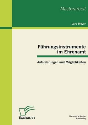 Fuhrungsinstrumente Im Ehrenamt: Anforderungen Und Moglichkeiten (Paperback)