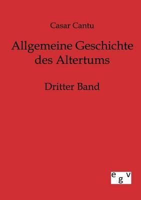 Allgemeine Geschichte Des Altertums (Paperback)