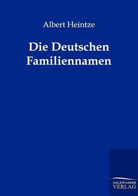 Die Deutschen Familiennamen (Paperback)