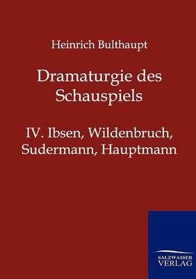 Dramaturgie Des Schauspiels (Paperback)