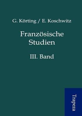 Franz Sische Studien (Paperback)