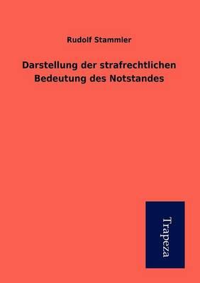 Darstellung Der Strafrechtlichen Bedeutung Des Notstandes (Paperback)