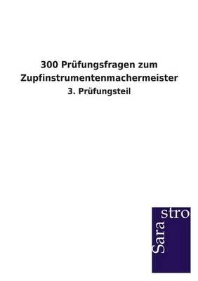 300 Prufungsfragen Zum Zupfinstrumentenmachermeister (Paperback)